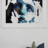 Лот № 5. STFNV.  Мария Магдалина. 2018. Фанера, аэрозольная краска. 150 х 107 см