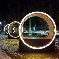 Скамейки с подсветкой Fusion