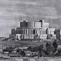 Большой театр оперы и балета в Минске (арх. И.Г. Лангабард, 1938). Общий вид, 1939