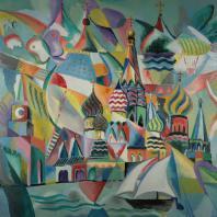 Андрей Мунц: Москва злотоглавая. Холст, масло. 90х120