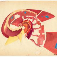 Проект группы НЭР: эскиз Нового элемента расселения, 1969 г.