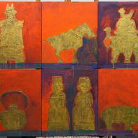 Выставка «АРХ.АРТ. Николай Шумаков» в МВК РАХ. Китай, Полиптих, 2015