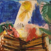 Выставка «Новый Никонов» в Государственном музее А.С. Пушкина. Дом строится. 2016. Холст, масло. 100х120