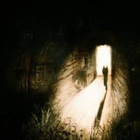 Юрий Норштейн, Франческа Ярбусова «Уходящий волчок», 1970-е гг. Смешанная техника. К эпизоду из фильма «Сказка сказок»
