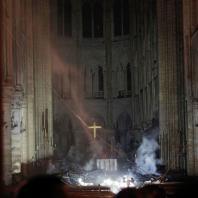 Пожар в Соборе Парижской Богоматери. 15.04.2019. Фото: CNN / Philippe Wojazer/AFP/Getty Images