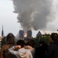 Пожар в Соборе Парижской Богоматери. 15.04.2019. Фото: CNN / Philippe Lopez/AFP/Getty Images