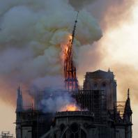 Пожар в Соборе Парижской Богоматери. 15.04.2019. Фото: CNN / Geoffroy Van Der Hasselt/AFP/Getty Images