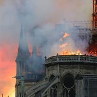 Пожар в Соборе Парижской Богоматери. 15.04.2019. Фото: CNN / Francois Guillot/AFP/Getty Images