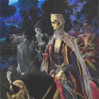 В.В. Сидамон – Эристави. Царица Тамара. Грузя, Тифлис, 1917г. Холст, масло. Из коллекции ГМВ