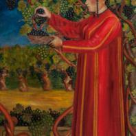 Б.Ю. Нурали. Сбор винограда. Туркмения, 1929 г. Холст, масло. Из коллекции ГМВ