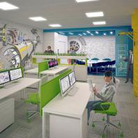 АО «НИКИЭТ». В небольшом пространстве научного офиса появились комфортные зоны отдыха и неформального общения. 2014-2016
