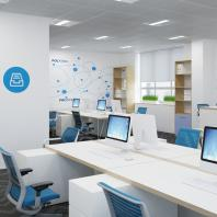 АО «УЭХК». Офис с трансформируемой переговорной для инженерно-технического подразделения. 2014-2016