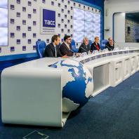 Пресс-конференция, посвященная старту конкурса на мастер-план территории, прилегающей к стадиону «Самара Арена». 26 февраля 2020