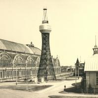 Первая в мире гиперболоидная башня Шухова, Нижний Новгород. Инженер Шухов В.Г., фотография А.О. Карелина, 1896