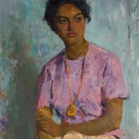 С.М. Скубко. Студентка из Рио-Негро (Бразилия). 1962 г. Холст, масло