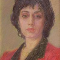 Л.Л. Скубко-Карпас. Портрет Бернадэт. Франция, 1996 г. Картон, пастель
