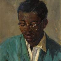 С.М. Скубко, Ю. Скубко. Студент-художник южно-африканец. 1967 г. Картон, масло
