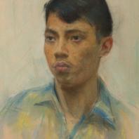 С.М. Скубко. Студент из Индонезии. 1961 г. Пастель