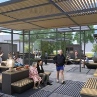 "Конкурс на создание концепции общественного пространства для малых поселений городского типа. 2-е место. АБ ""Momentum Architects"" (Москва—Обнинск). Авторский коллектив: Антон Котляров, Станислав Кашин"