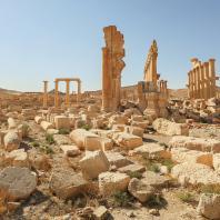 Пальмира. Вид Триумфальной арки после разрушения. 2016 г. Фотография предоставлена научным историческим архивом ИИМК РАН