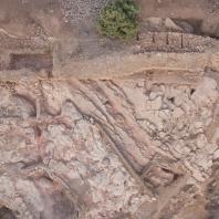 Раскопки крепости Узундара в Бактрии (современная территория Узбекистана)
