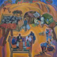Зухур Хабибуллаев. Осень чабанов в Кабадияне. 1975 г. холст, масло. Коллекция Юлии Вербицкой