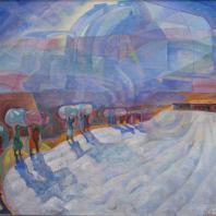 Зухур Хабибуллаев. Хирман (Мираж). 1971-72 гг. холст, масло. Коллекция Юлии Вербицкой
