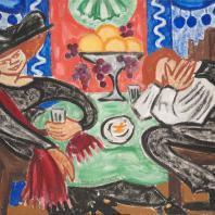 О.В. Розанова. «В кафе». Около 1912. Государственный Русский музей
