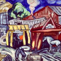 О.В. Розанова. «Кузница». 1912. Государственный Русский музей
