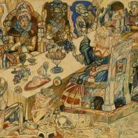 П.Н. Филонов. «Пир королей». 1912 г. Государственный Русский музей