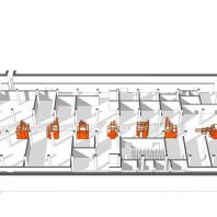 Экспозиционное пространство фестиваля «Зодчество'18». Большой зал ЦВЗ «Манеж»