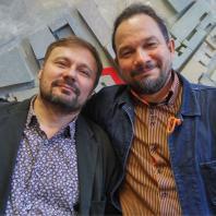 Кураторы фестиваля «Зодчество'18» архитекторы Владимир Кузьмин и Владислав Савинкин