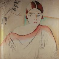 Кирилл Зданевич. Портрет жены Валерии. Начало 1920-х. Бумага,акварель, 34х30