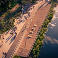 Набережная реки Клязьма вдоль улицы Шмидта. ООО «МежрегионСтрой»