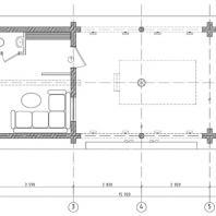 Проект бани с бассейном, беседкой и барбекю. 70 м²